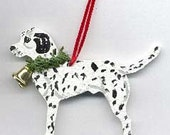 Hand-Painted DALMATIAN Wood Christmas Ornament Artist Original....Nicely Painted