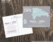 Dominican Republic – Wedding Save the Dates - Destination Wedding - Save the Date