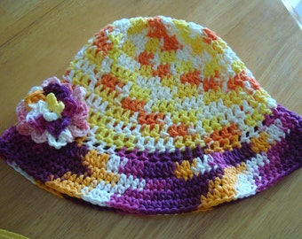 Crocheted Florida Sun Garden Beach Hat Number 3