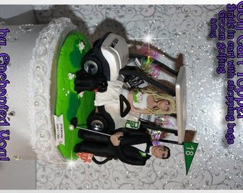 Cart, Golf, Golfing, Wedding Cake Topper, Custom, Personalized