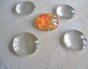 50...14mm Glass Tile Cabochons. Great for  Rings, Magnets and pendant settings.