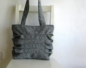 Sale - Grey Bag with Pleats