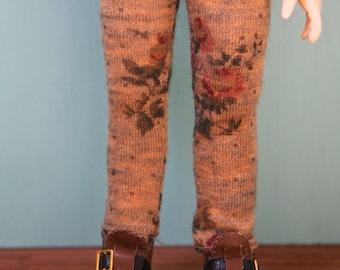 Jiajiadoll- stone yellow flower legging fits  YoSD 1/6 BJD