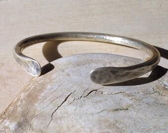 Shane Cuff V.2 - Rugged, Masculine Cuff Bracelet in Solid Sterling Silver