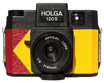 Customized Yellow and Red Holga w/matching notebook