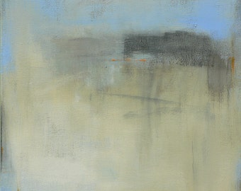Contemporary Abstract Landscape Painting- 24x24 West Elm featured artist, Pottery Barn, minimalistic painting, coastal wall decor, high end