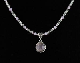 Rose Quartz Necklace Set. Listing 157669376