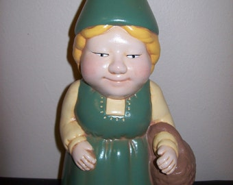Hand Painted Ceramic Gnome