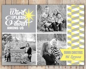 Word Became Flesh - DIGITAL Custom Christmas Holiday Photo Card