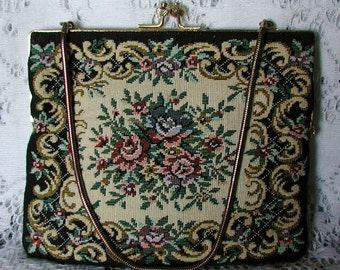 Lovely, Vintage, Flora,l Tapestry, Wedding, Purse