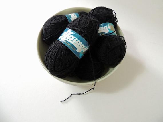 Hayfield Hawaii Double Knit Yarn, DK Yarn, Black Yarn 50g each