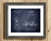 Early 1900s Design for Hybrid Vehicle blueprint art print - multiple sizes available