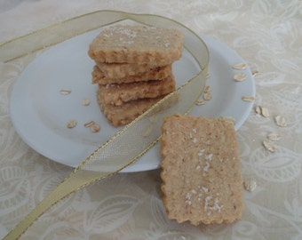 Salted Oatmeal Shortbread Cookie