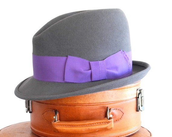 Men's Felt Fedora Hat Felt Hat For Men Mad Men Hat The Great Gatsby Men's Hat 1920's Men's Hat Fall Fashion Winter Hat Custom Hat Men's Gift