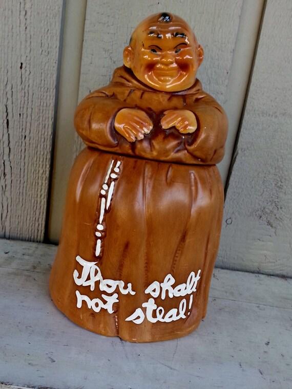 Twin Winton Friar Monk Cookie Jar Thou Shalt Not