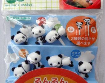Cute Panda Bear Japanese Bento Picks / Cake Toppers