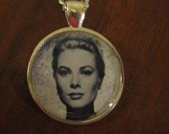 Grace Kelly photo pendant