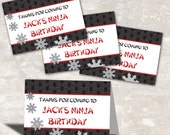 Ninja Karate Birthday Party Favor Bag Toppers (set of 12) PRINT & SHIP