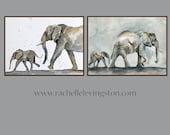 boy Nursery art print boy elephant Kid Wall art PRINT Elephant nursery art boy baby elephant watercolor painting 11x14 toddler room decor