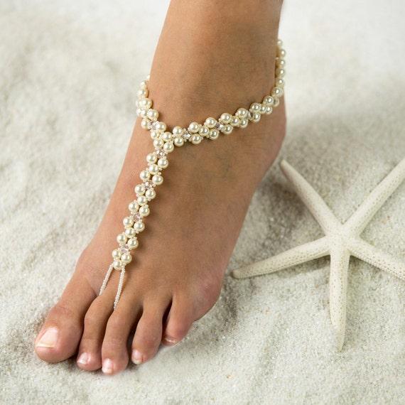 Tropical beach foot jewelry barefoot sandals wedding like this item junglespirit Gallery