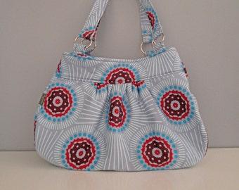 SALE: Handmade purse - large shoulder bag in Anna Maria Horner fabric print