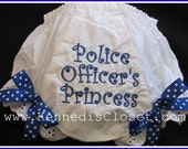 Police Officers Princess Bloomers Diaper Cover