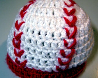 Free Crochet Pattern Newborn Baseball Cap : Popular items for baby baseball on Etsy