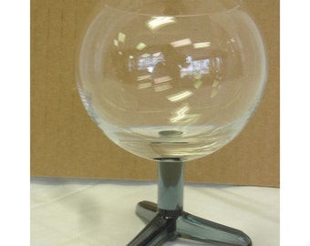 Morgantown Hangups Footed Goblet Glass Vintage Mid Century Modern MCM