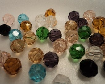 Faceted Crystal Bead Mix - 8mm - 12 pieces - #CB603