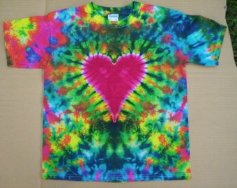 Childrens-Youth Heart Tie Dye Choose Size