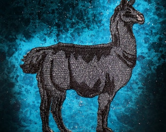 Epic Black Llama Lama glama  Iron on Patch