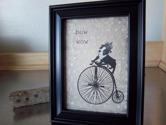 Items Similar To Boston Terrier Wall Art Framed Dog
