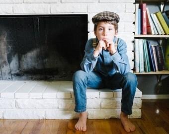 SALE Wool Newsboy Hat