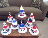 AHoy its a Boy Beach Nautical Sailing Baby Shower Centerpiece Diaper Cakes other colors and sizes too