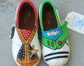 Toddler TOY STORY Buzz Lightyear and Woody Disney shoes perfect for your Summer Trip to Disneyland - NeW SH0ES lNCLUDED