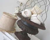 Vintage Wire Cloche - Shabby French Cottage Farmhouse