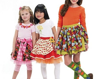 GIRLS SKIRT  PATTERN / Make Boutique Style Skirts In Several Styles / Sizes 3 to 6 Or 7 to 14 / School Clothes