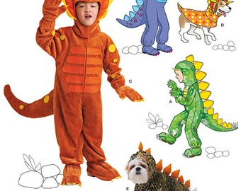 dinosaur costume pattern boy and dog costumes sizes 3 to 8 halloween