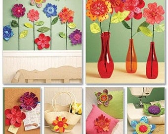 FABRIC FLOWER PATTERN / Make Fabric Flowers for Home or Gifts./ Floral Accessories - Decorations