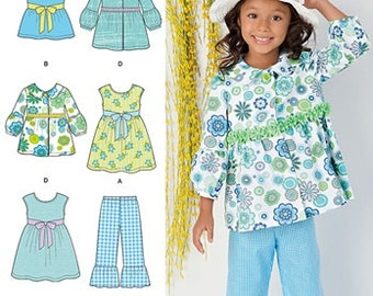 GIRLS CLOTHES PATTERN / Make Summer Clothes / Jacket - Top - Pants - Dress / Sizes 3 to 8