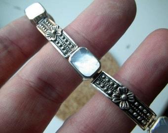 Sterling Silver/ Mother of Pearl Earrings.