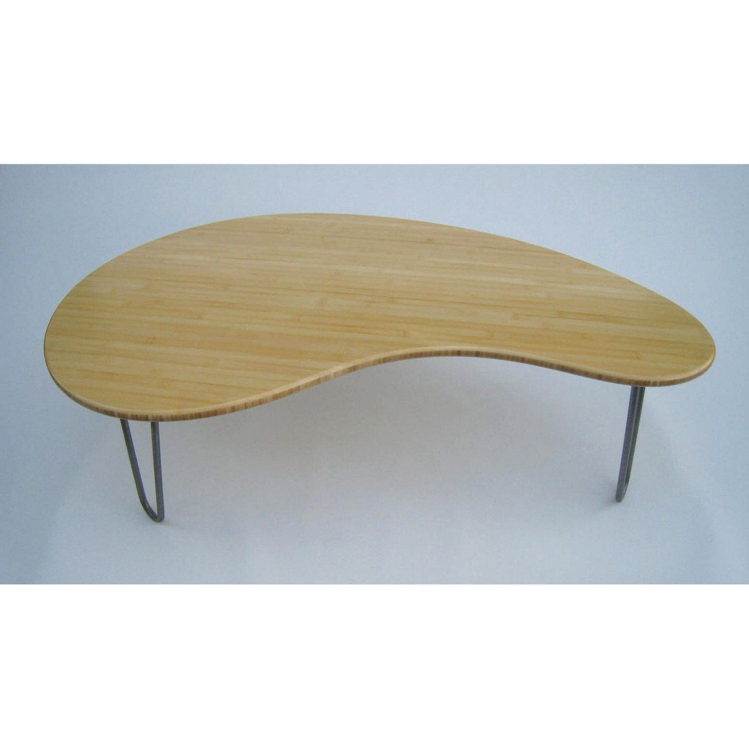 Mid Century Modern Coffee Table Kidney Bean Shaped Amorphic