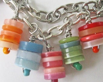 Button Jewelry - 17-inch button necklace