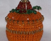 Bead and Safety Pumpkin Candy Bowl