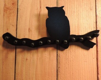 jewelry holder , necklace holder,  owl on a branch,  necklace rack  storage  tree organizer   display 12 pegs