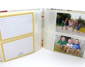 10 sleeves (room for 20 or 40 additional 4x6 photos and/or cards) 8x8 size album