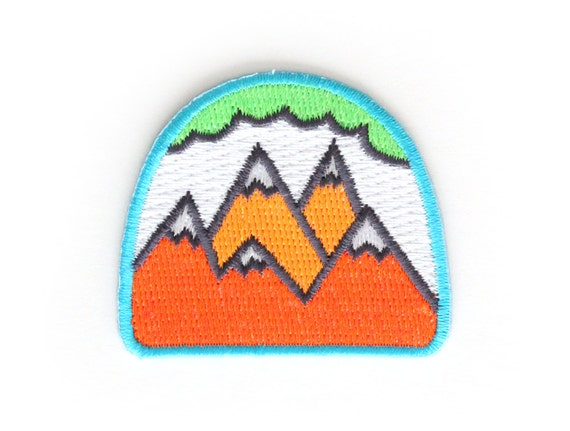 Neon Mountains Iron On Patch
