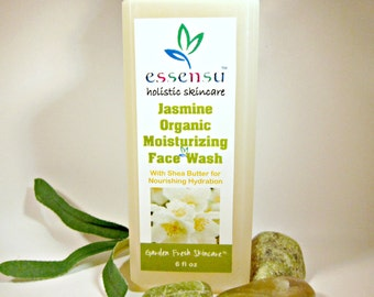 Jasmine Organic Moisturizing Natural Botanical Face Wash | Good for Sensitive Skin | All Skin Types | Essential Oil | No Sulfates - 6 oz