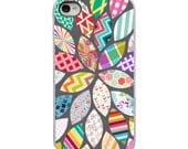 On Sale! Flower Pattern with White, Black or Clear Sides iPhone Case - IPhone 4, 4S, 5, 5S, 5C Hard Cover - Fun Unique Trendy - artstudio54
