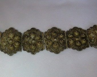 Antique Filigree Panel Bracelet amazing work